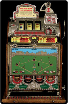 1929 Mills 4 Row MINT Vendor 5 cent Slot Machine