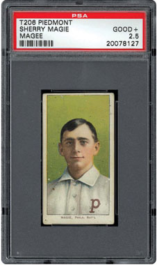 1909 T206 Sherry Magee Piedmont